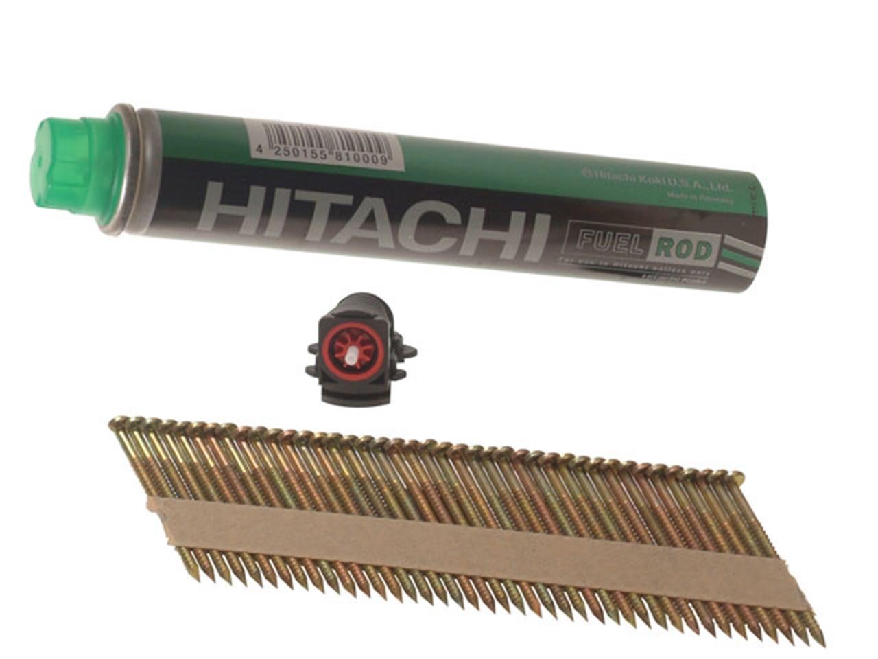 Hitachi HIT705556 3.1 x 75mm Bright Ring Clipped Head Nail x 2200 ...
