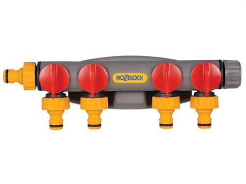Hozelock 2150P0000 HOZ2150 4 Way Tap Connector Garden Water Hose Pipe Watering 1