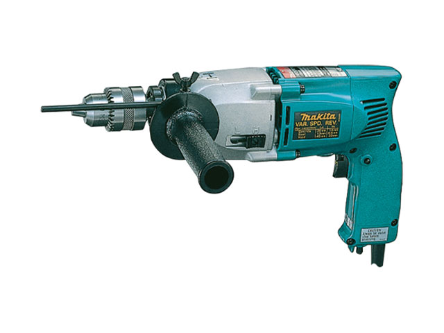 Makita HP1641K 13mm 680W Percussion Drill c//w Keyless Chuck /& Carrying Case 110V