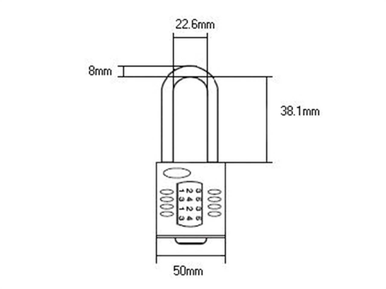Henry Squire Cp50 15 38mm Long Shackle Combination Padlock 50mm Lock Diagram Authorised Reseller