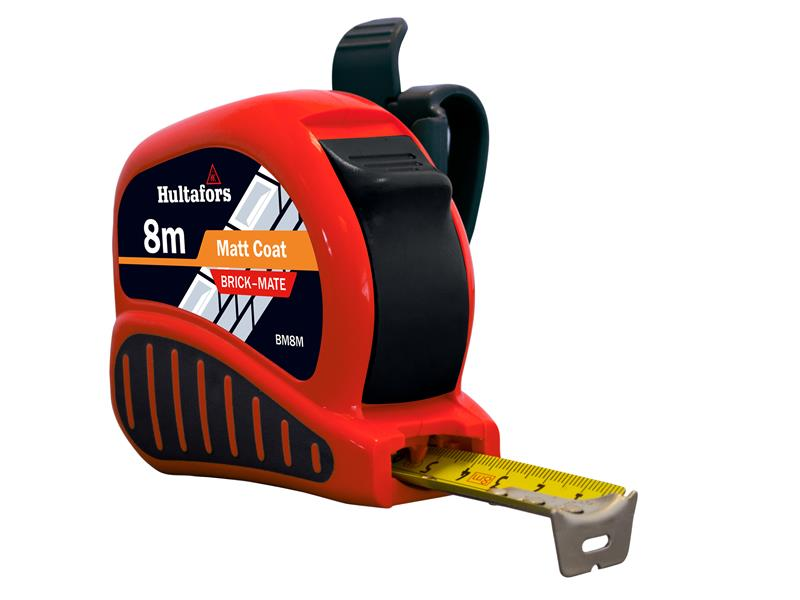 Width 25mm Fisco TMC8M Chrome Tri-Matic Pocket Tape 8m Metric only FSCTMC8M