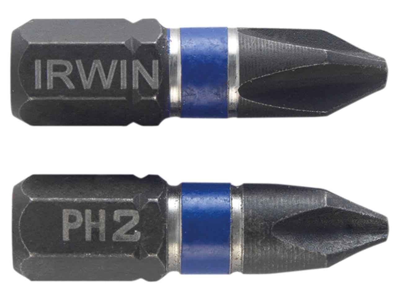 IRWIN 1923322 Impact Screwdriver Bits Phillips PH2 50mm Pack of 2