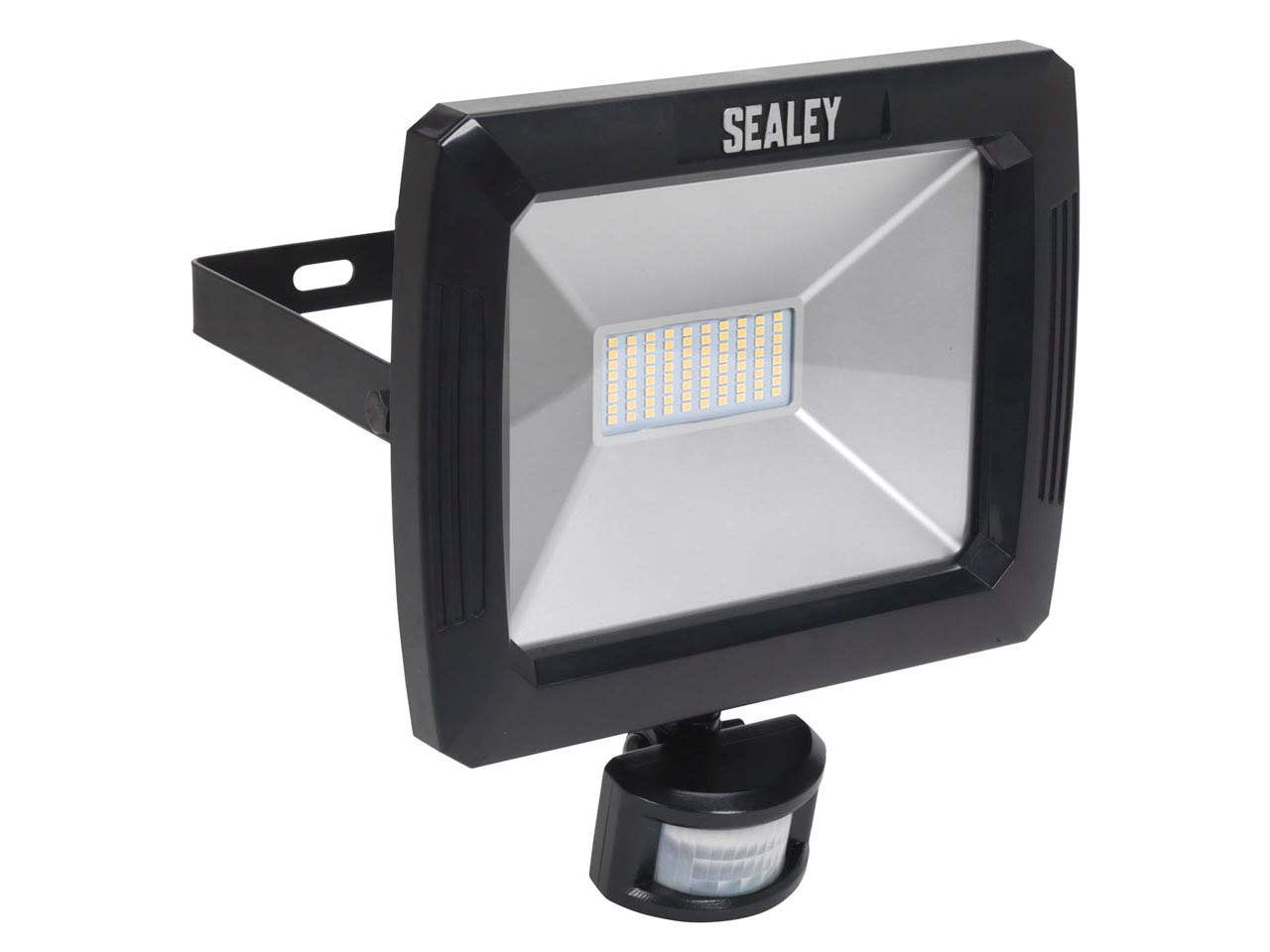 Sealey led089 floodlight with wall bracket pir sensor 70w smd led 230v aloadofball Image collections