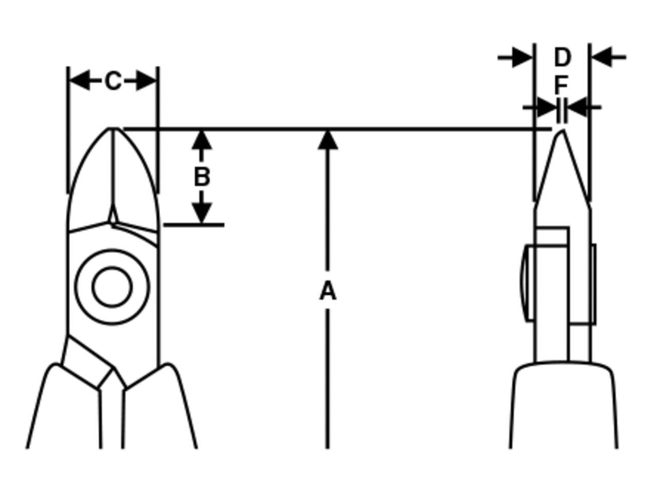 Lindstrom Diagonal Cutting Ultra Flush Cut Nipper 110mm LIN8142