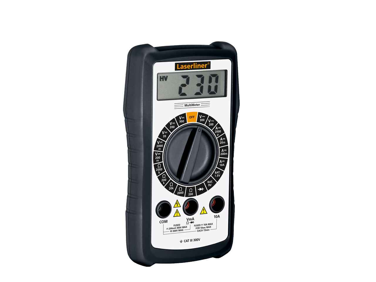 Dc Voltage Tester : Laserliner multimeter digital ac dc voltage tester