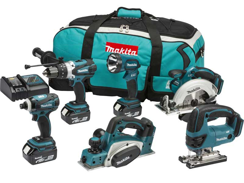 makita dlx6012m 18v lxt 6 piece combo kit. Black Bedroom Furniture Sets. Home Design Ideas