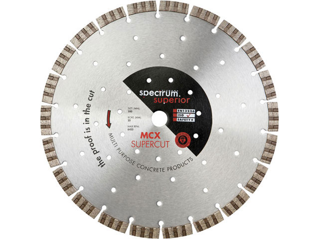 Spectrum DCX300//20 Double Six Diamond Blade 300mm x 20mm
