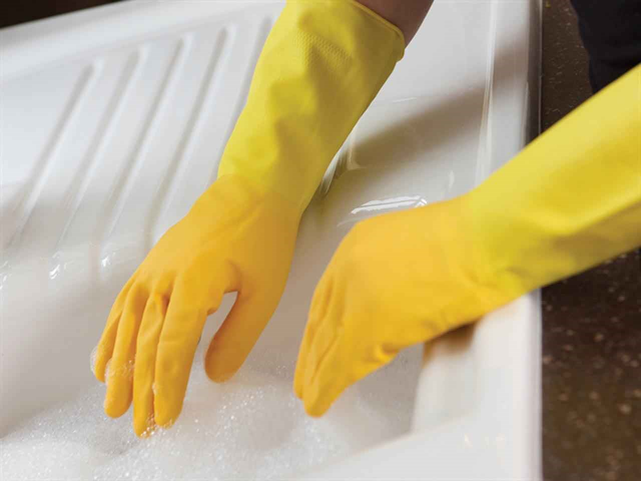 Marigold 145406 Extra Life Kitchen Rubber Gloves Small 6