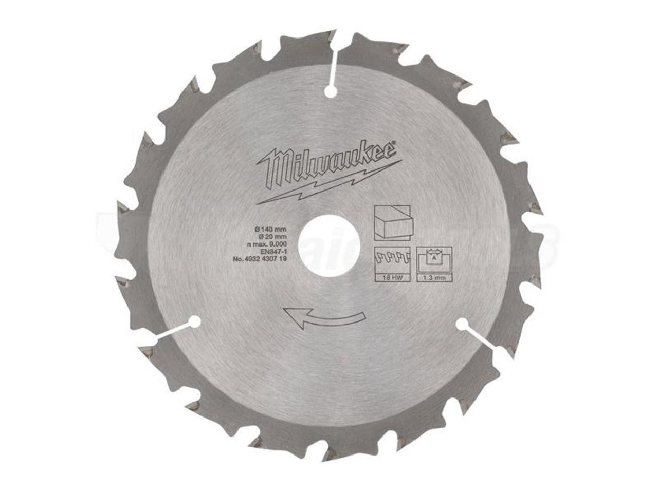 Milwaukee 4932430719 circular saw blade 140mm x 20mm x 18t greentooth Image collections