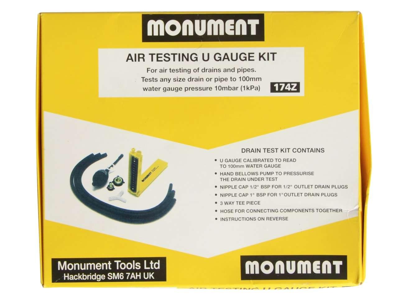Monument 174Z Air Testing U Gauge Kit