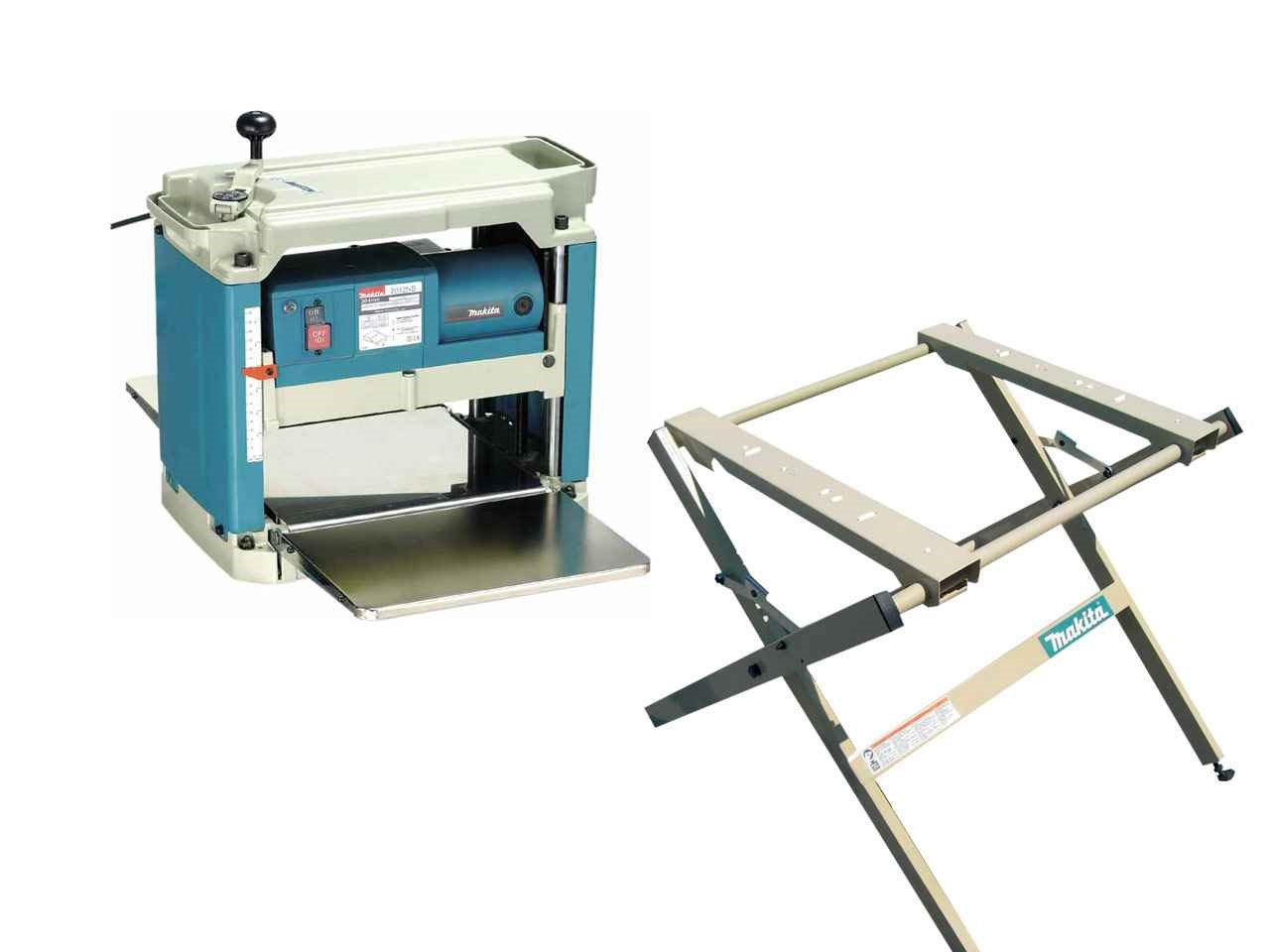 Makita 2012NBX 240v Planer Thicknesser with 198689-7 Stand