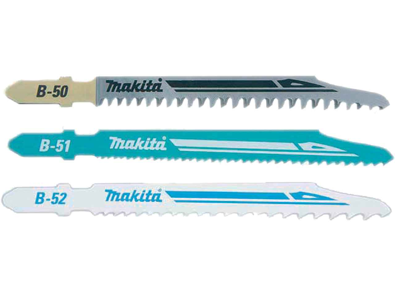 Makita b 06292 super express pack of 3 75mm assorted jigsaw blades greentooth Image collections