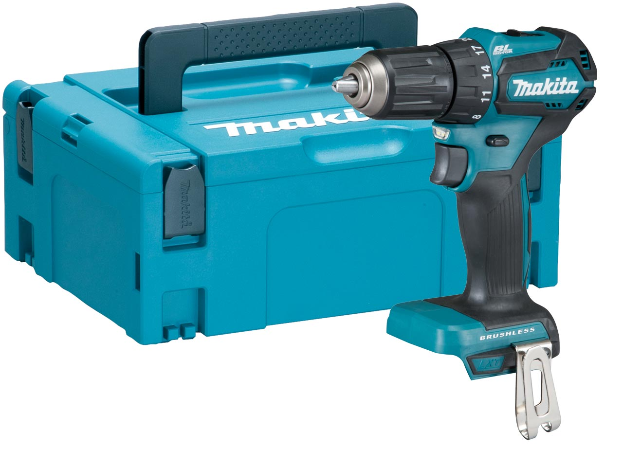 makita ddf483zj 18v lxt li ion brushless drill driver bare unit makpac ebay. Black Bedroom Furniture Sets. Home Design Ideas