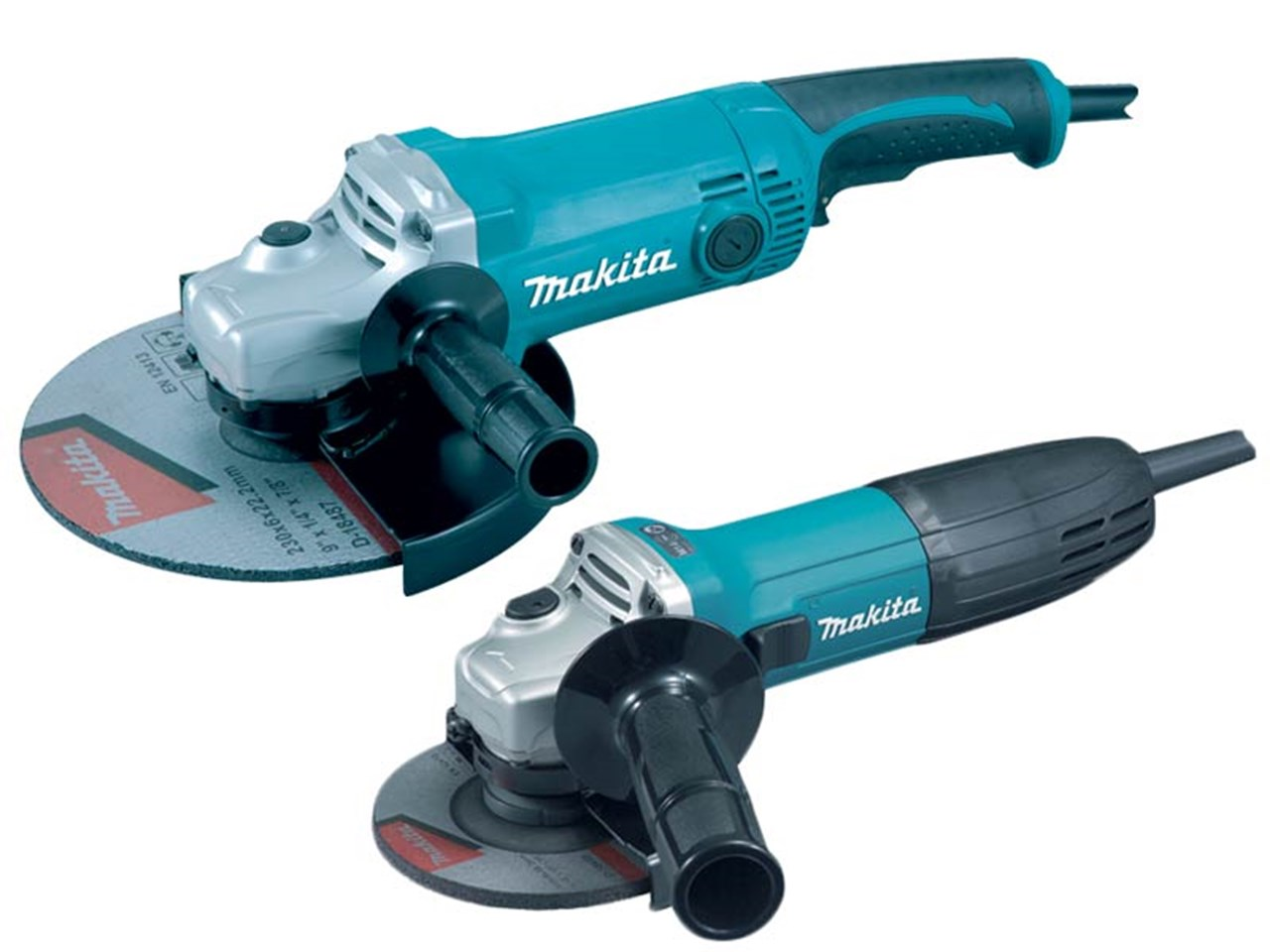 Makita DK0056 1 110v 230mm And 115mm Angle Grinder Twin Pack