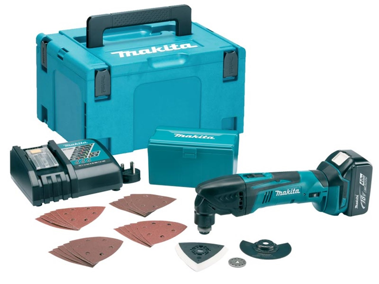makita dtm50rm1j1 18v lxt multi tool 4 0ah with accessories makpac kit. Black Bedroom Furniture Sets. Home Design Ideas
