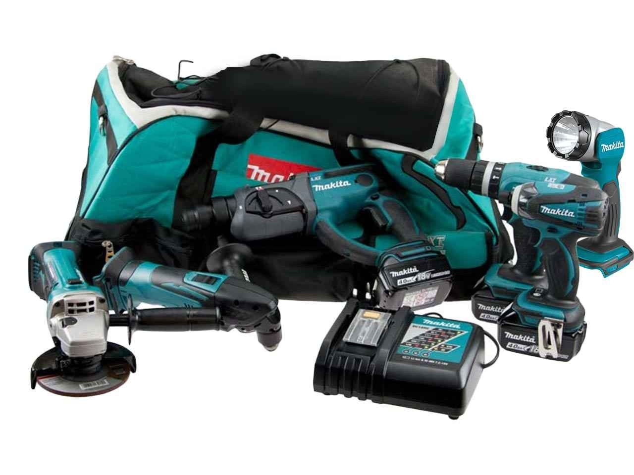 makita ffx6pckit 18v lxt 4 0ah li ion cordless 6 piece kit. Black Bedroom Furniture Sets. Home Design Ideas