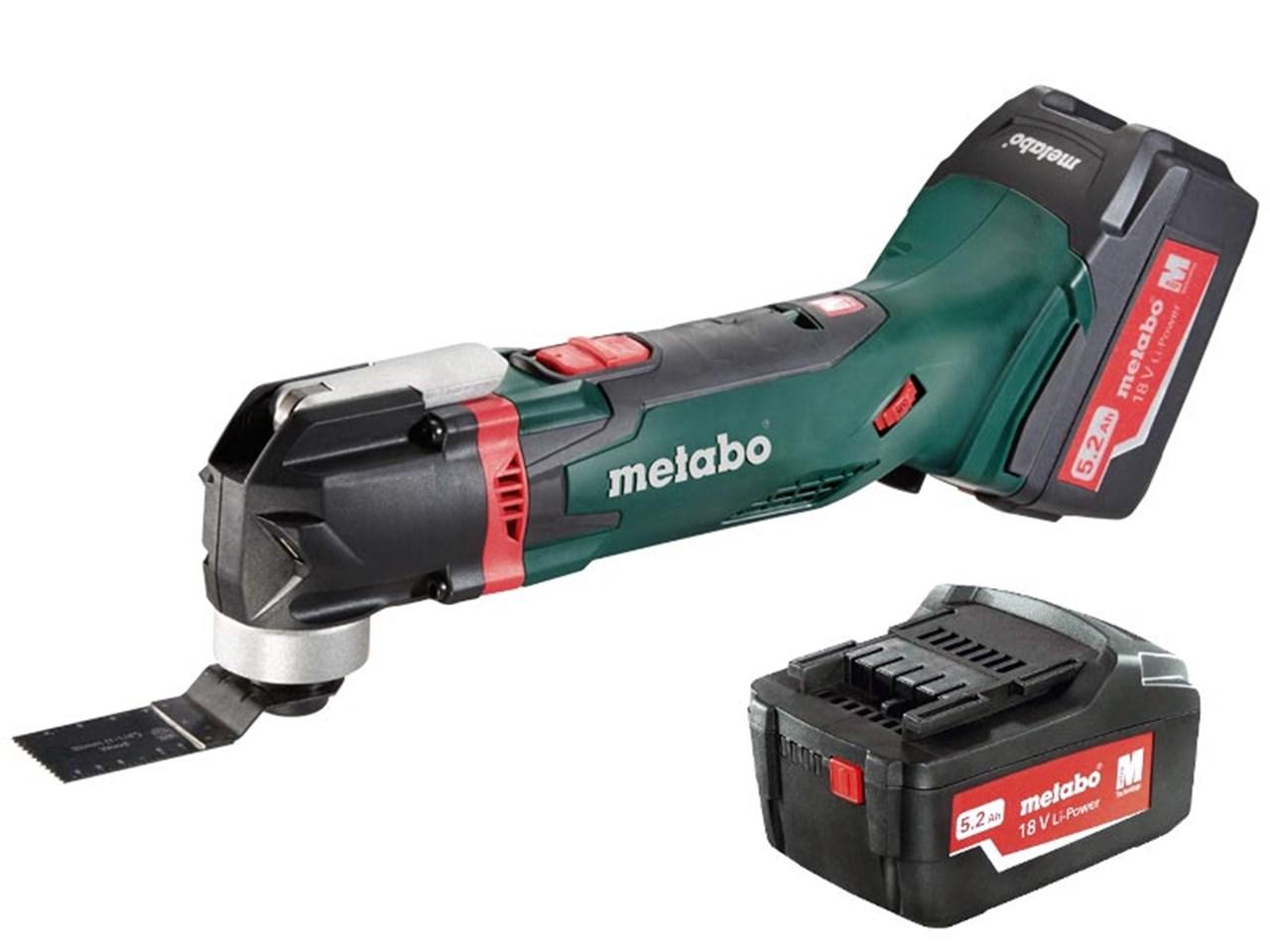metabo mt18ltx 18v cordless multi-tool 2 x 5.2ah li-ion