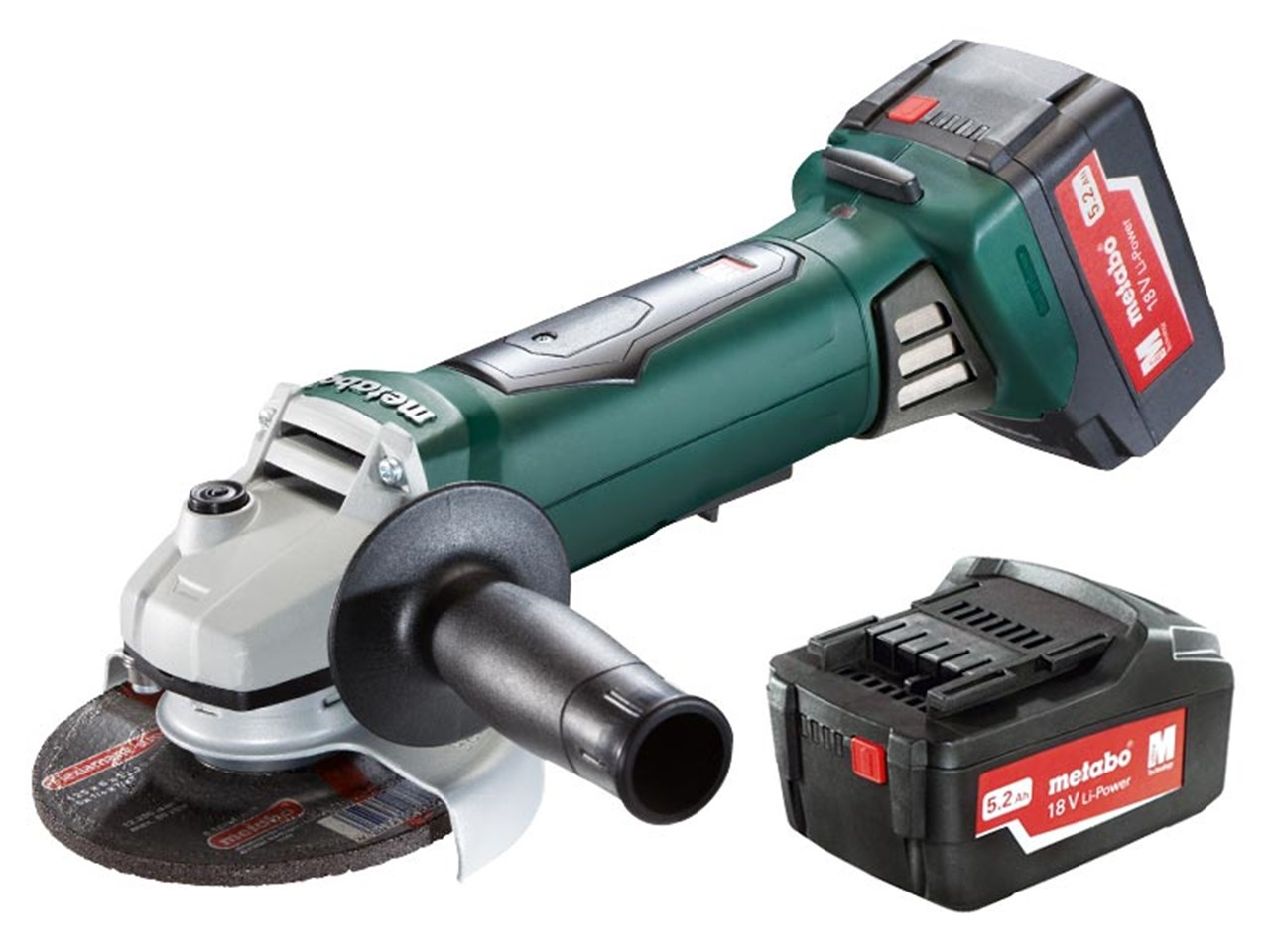 metabo wp18ltx quick 18v 125mm paddle switch grinder 2 x 5 2ah. Black Bedroom Furniture Sets. Home Design Ideas