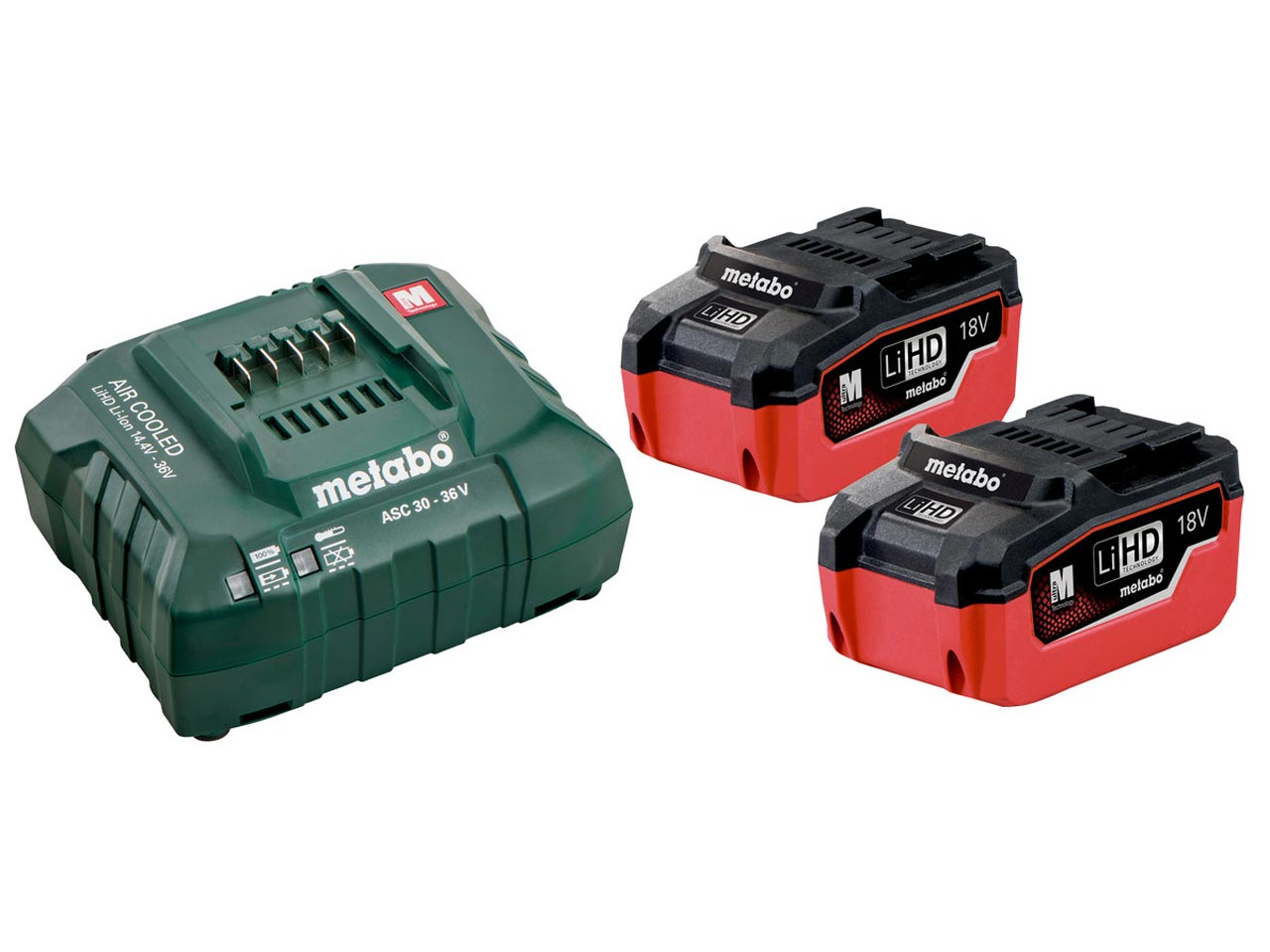 metabo 685122000 18v 2x5 5ah lihd battery starter kit ebay. Black Bedroom Furniture Sets. Home Design Ideas