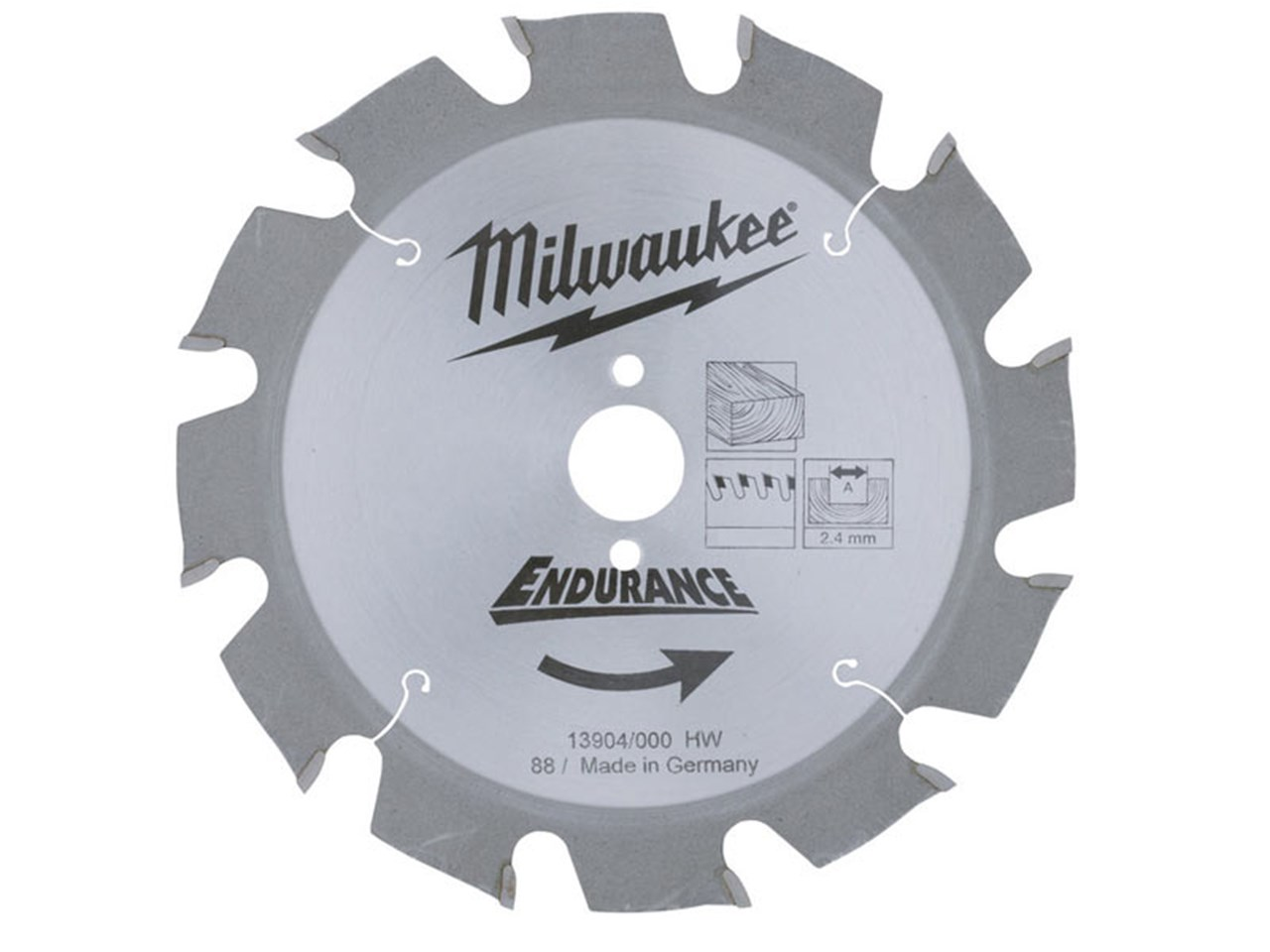 Milwaukee 4932327969 circular saw blade 190 x 24 x 30 x 24t greentooth Image collections