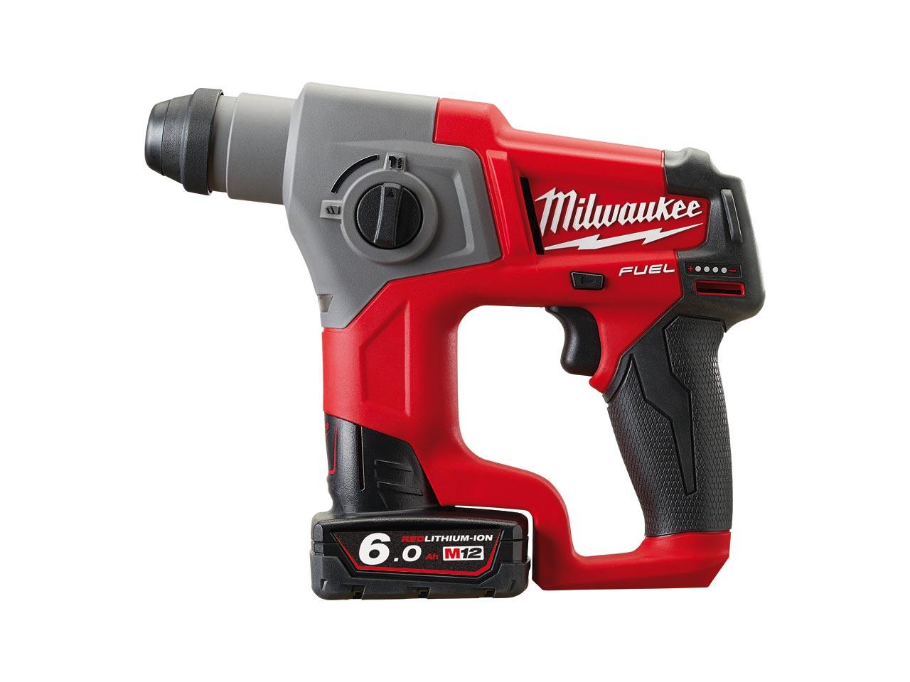 Milwaukee M12CH-602X 12v 2x6Ah Li-ion SDS Hammer Drill