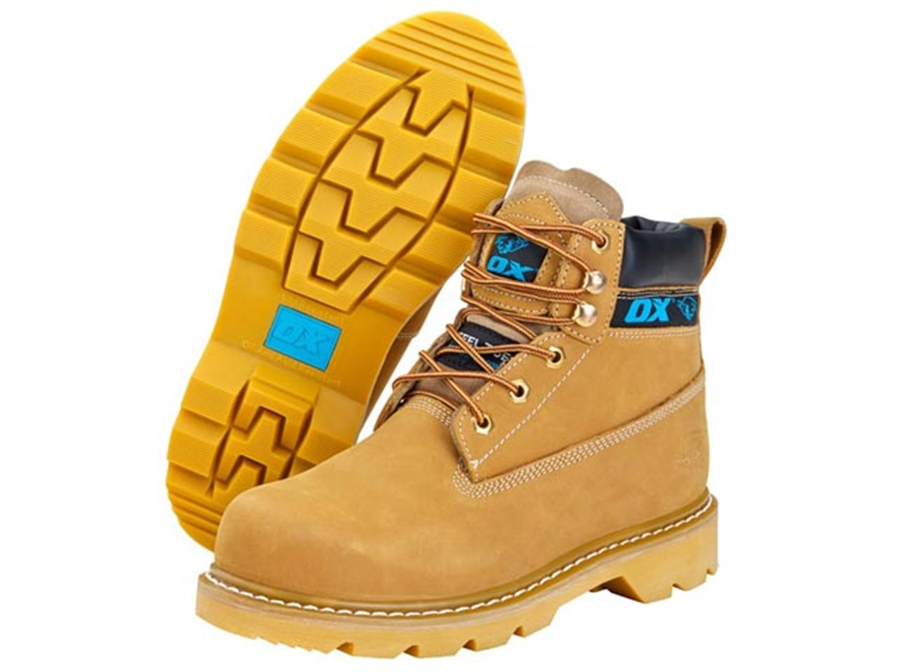1922322faa527 Ox Tools S242513 Honey Nubuck Safety Boots Size 13