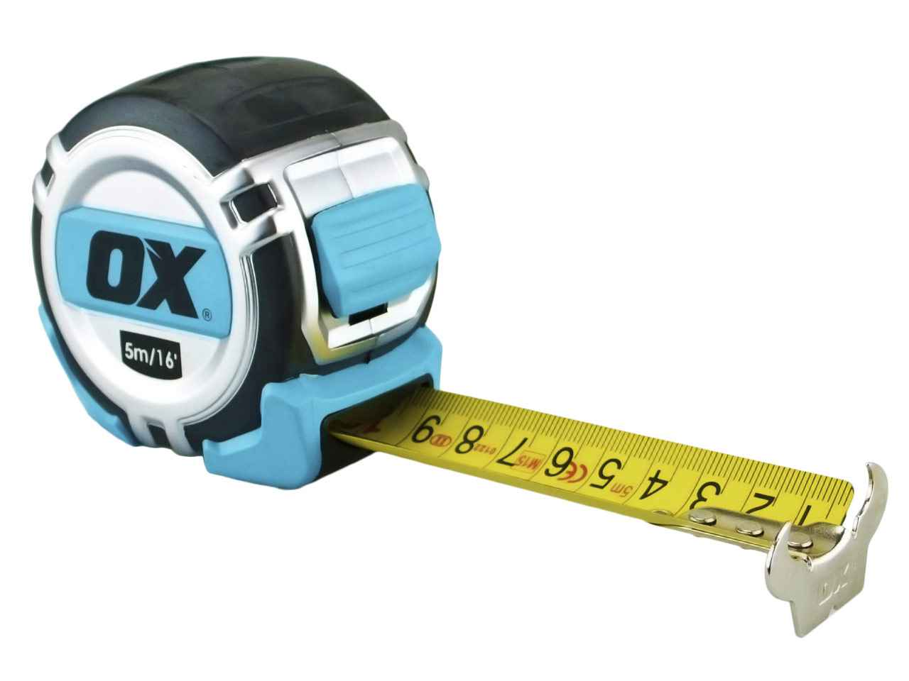 ox tools oxp028705 pro tape measure heavy duty 5m 16ft metric and imperial