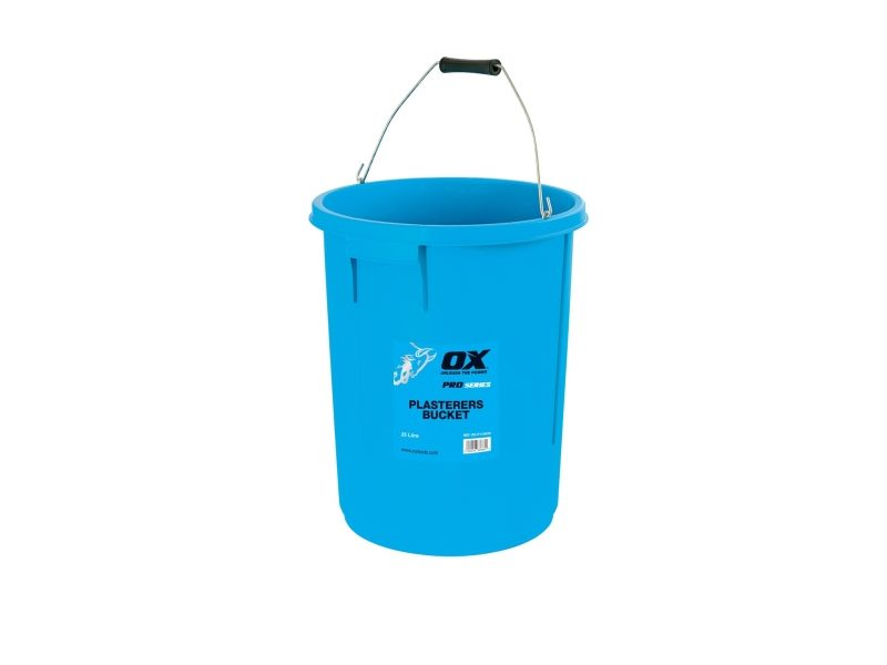 25L PLASTERERS MIXING BUCKET 25 LITRE PLASTERING BUILDERS WATER TUB WITH HANDLE