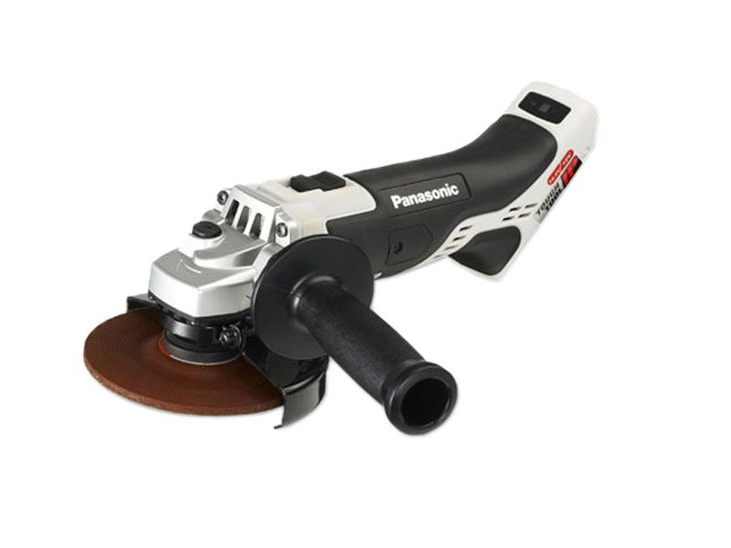 cordless grinder. panasonic ey46a2x 14.4v / 18v dual voltage cordless angle grinder bare unit