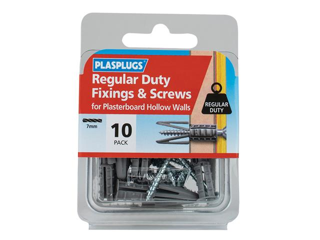 Rawlplug RAWSM06065 Interset Cavity Fixings /& Screws M6 x 65 Pack of 50