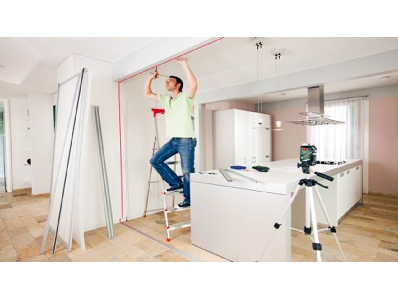 bosch pll 360. multi line laser self levelling bosch home and garden