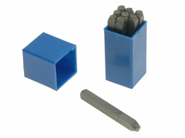Priory PRIN532 180-4.0mm Set of Number Punches 5//32in