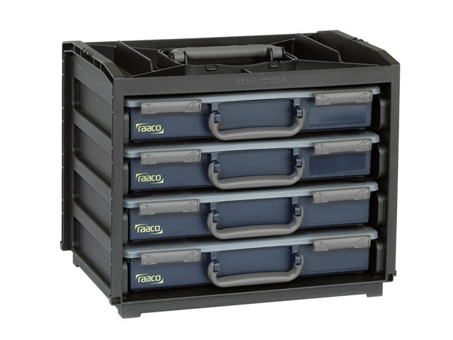 Raaco 136242 Portable Handy Box 4 A4 Assorters