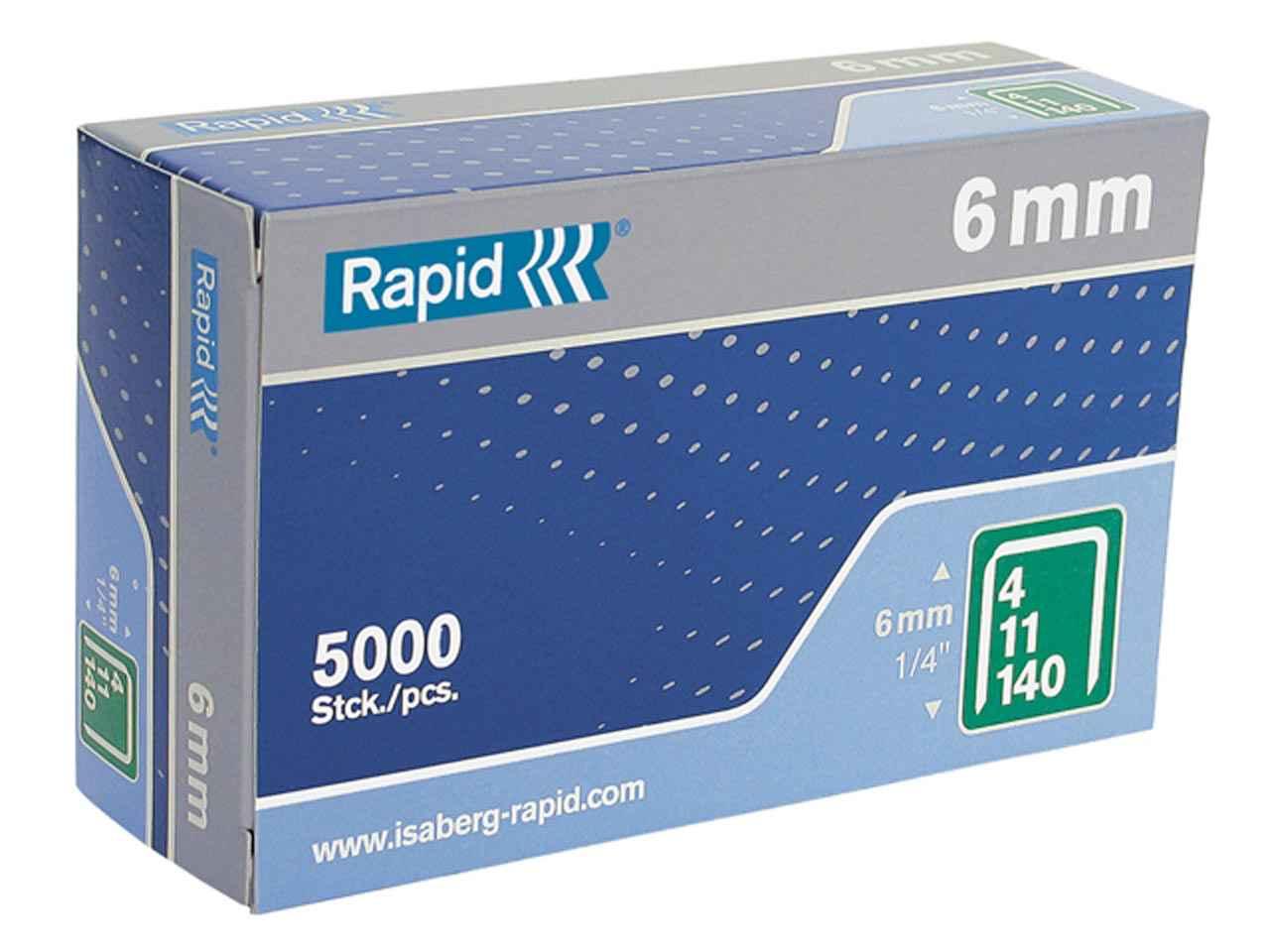 Rapid RPD5310B2500 53//10B 10mm Galvanised Staples 2500 Boxed