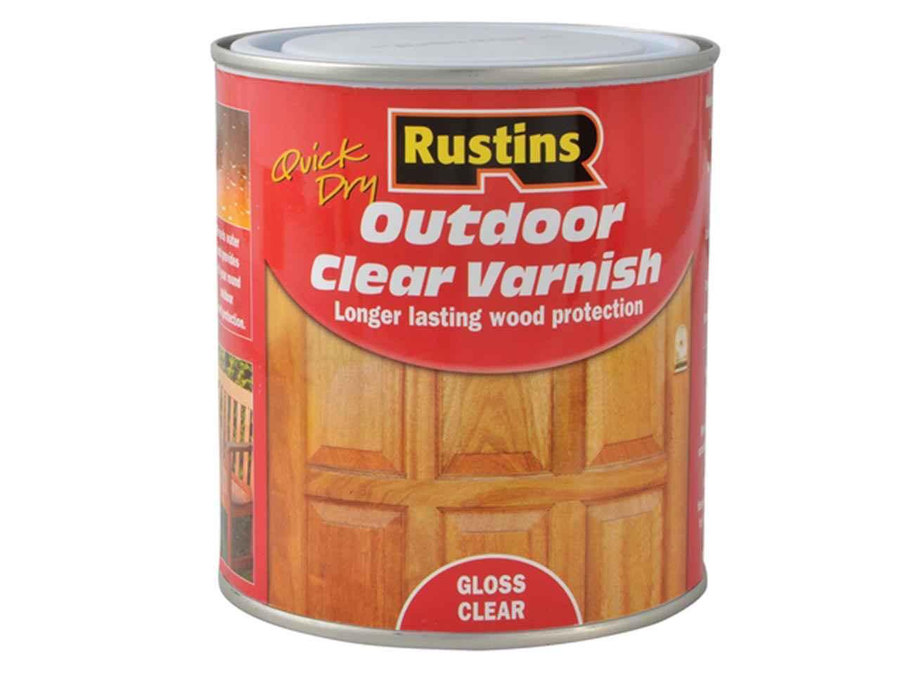 Nice Rustins EAVG500 Exterior Varnish Clear Gloss 500ml