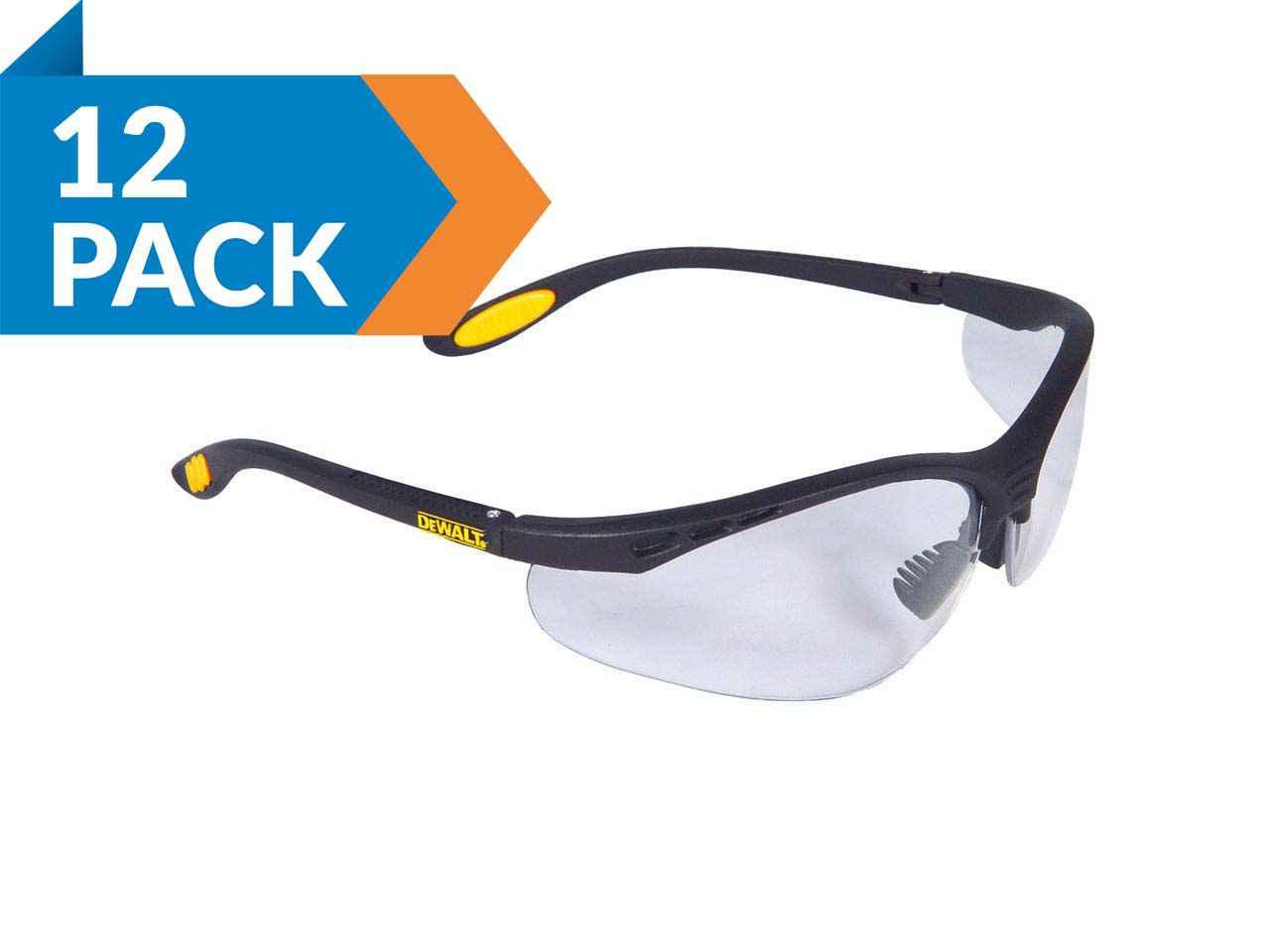 DEWALT DPG58-11 Dpg58 Reinforcer SAFETY Glass Clear Lens Anti-Fog SAFETY Glass Radians Inc.