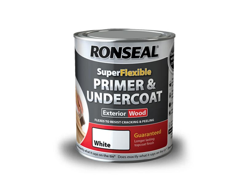 Ronseal RSLEWPWHI750 Exterior Wood Primer And Undercoat White 750ml