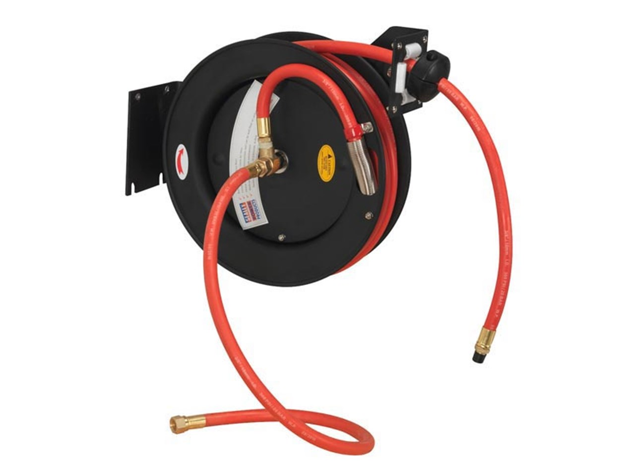 Sealey Sa84 Retractable Air Hose Steel Reel 8mtr 10mm Id Rubber Wiring