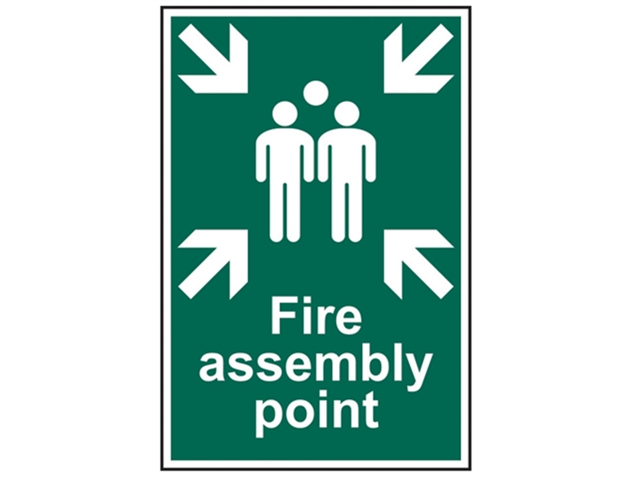 scan sca1541 fire assembly point sign pvc 200 x 300mm. Black Bedroom Furniture Sets. Home Design Ideas