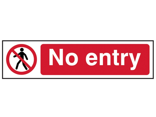 SCAN sca5052 NO entry sign-IN PVC 200 x 50mm
