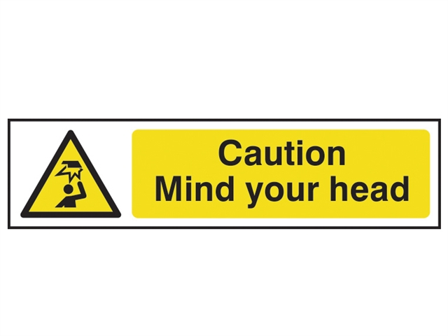 Scan Sca5110 Caution Mind Your Head Sign Pvc 200 X 50mm