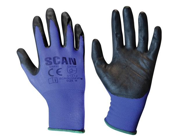 pack 12 size 8 Scan Seamless Inspection Gloves Medium