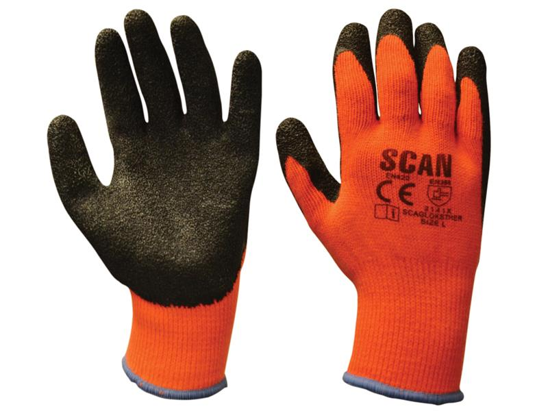 Scan SCAGLOKSTHXL Thermal Latex Coated Gloves Size 10 Extra Large