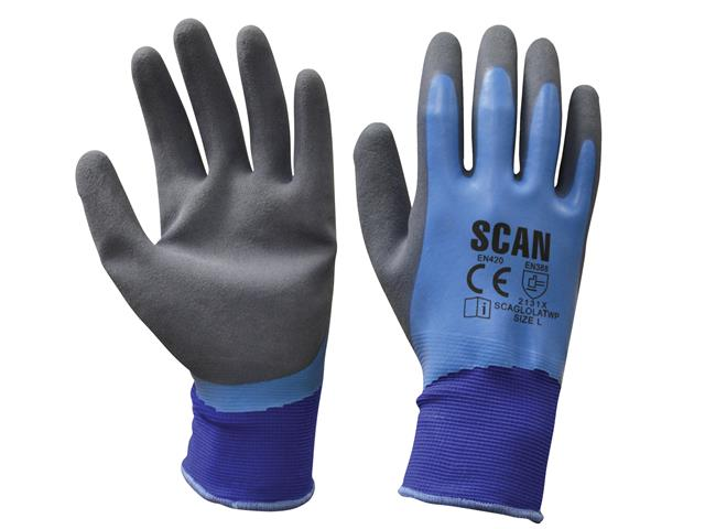 Garden Clothing & Gear Gardening Gloves Scan Waterproof Latex Gloves Size 9 Large