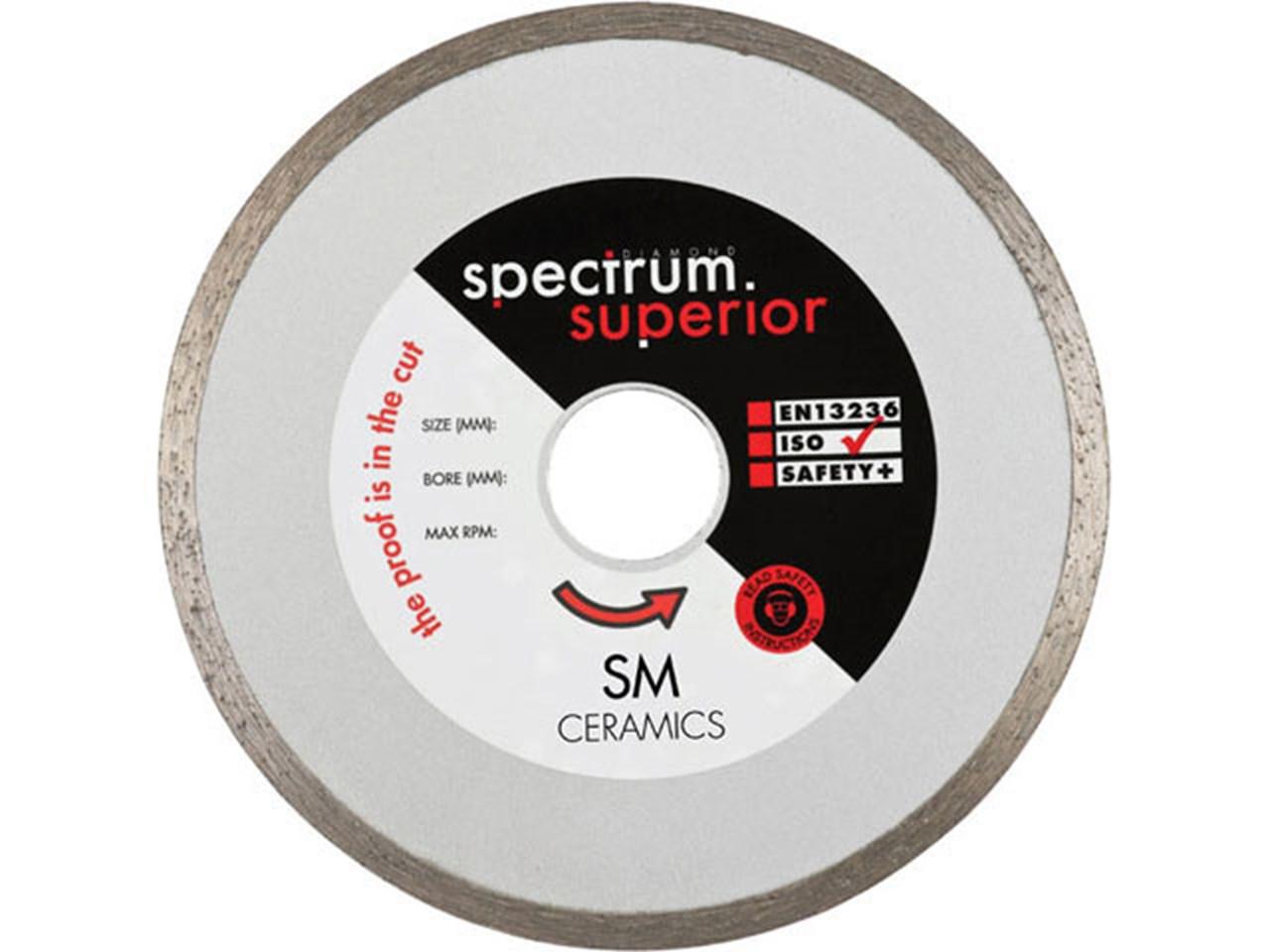 Spectrum SM100/16 Ceramic Tile Diamond Blade 100mm x 16mm