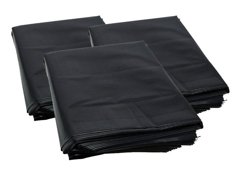 ODL Packaging 200 Black Polythene Heavy Duty Rubble Sacks Bags 20 x 30