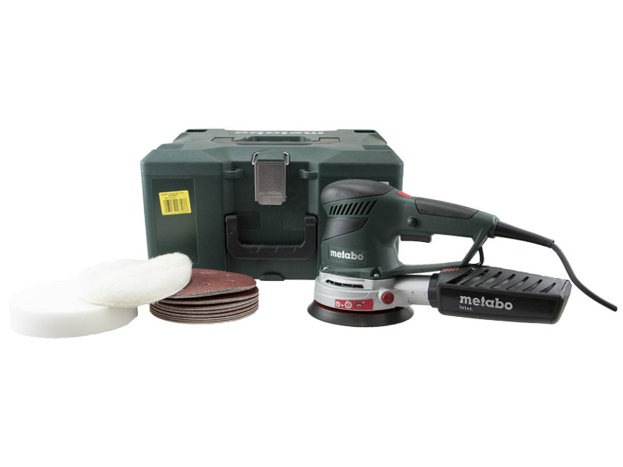 metabo sxe450 propack 240v turbotec 150mm sander 240v in metaloc green case. Black Bedroom Furniture Sets. Home Design Ideas
