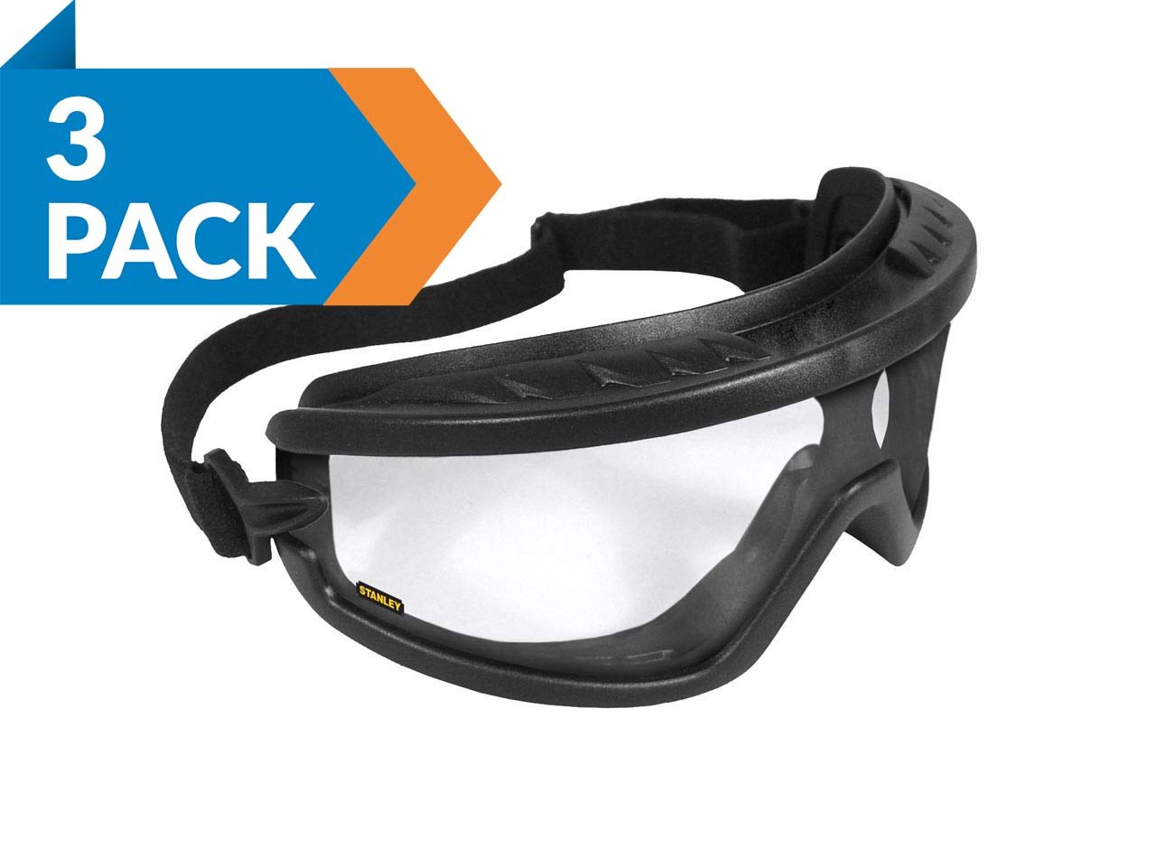 c70aff01da7 Stanley SY240-1Dx3 Safety Goggles Clear 3pk
