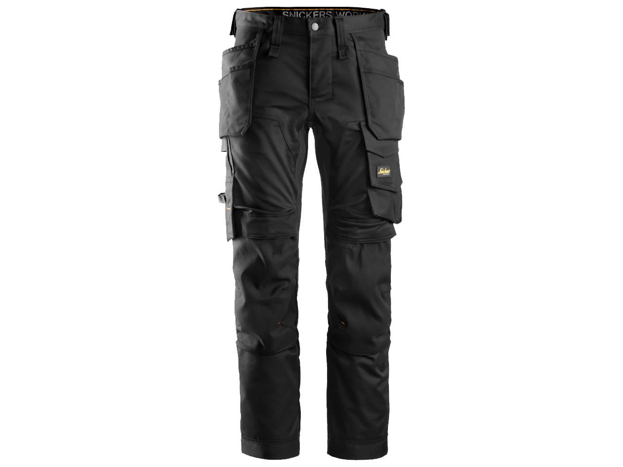 0e66e7129490 Snickers 62410404050 AllroundWork Stretch Trousers Slim Fit Black ...