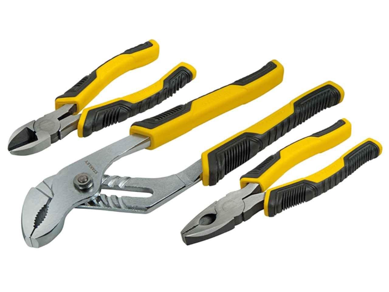 stanley sta074471 control grip plier set of 3